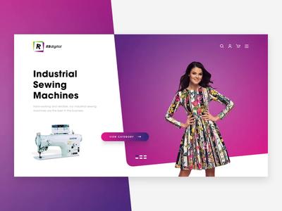 RBDigital   Landing Page Animation website ux ui transition template slider product motion marketing layout landing page header desktop design animation