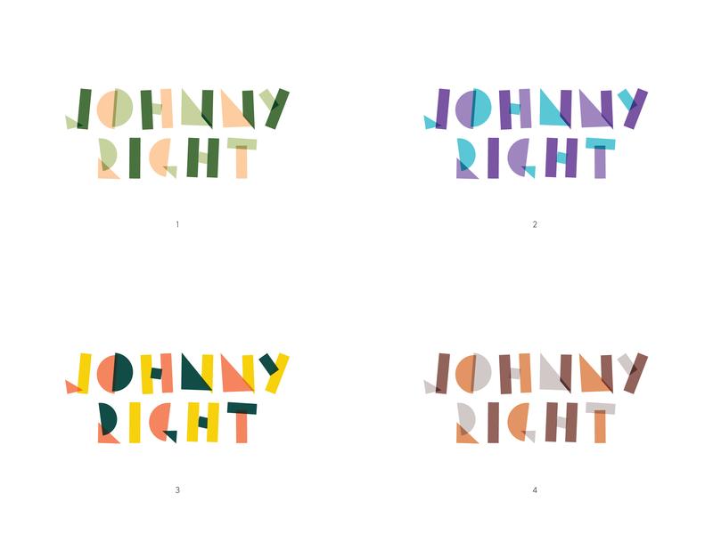 Johnny Right   Logo musician colour logo colour option logo music repair maker guitar right johnny