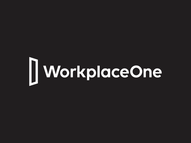 Workplace One | Rebrand workplace one font mark new logo identity visual  identity refresh branding door portal typography type design logotype logo offices coworking space toronto rebranding rebrand