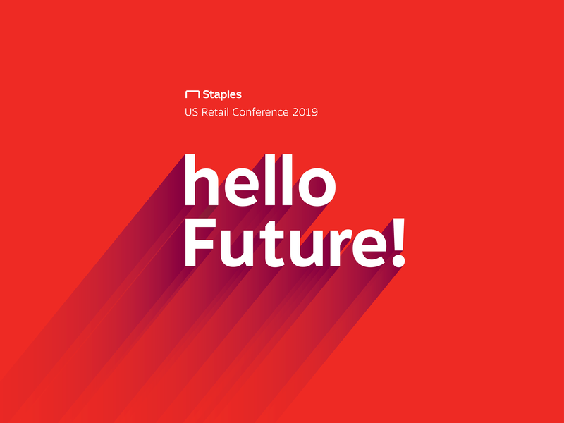 Hello Future | Staples US Retail Conference 2019 long shadow branding retail guidelines 2019 conference staplesus staples future hello