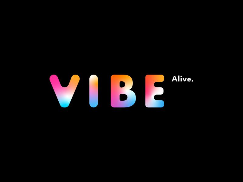 VIBE ALIVE   Branding colours gradient branding logotype toronto spaces safe events crew patrol sober alive vibe