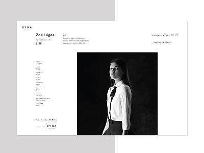 Dyna Model agency model webflow graphic web webdesign ui ux design