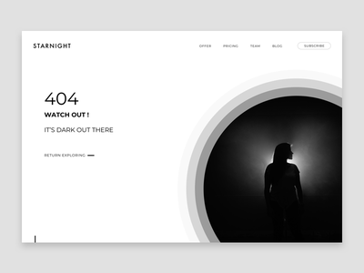 404 Page error dark photography webdesign ux design graphic design design ux ui website page 404