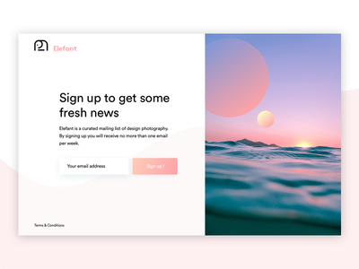 Sign up email account mailing pink website photography page ui ux webdesign design sign up