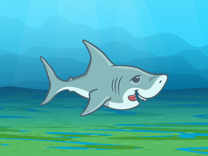 Sharky Shark shark illustrator vector
