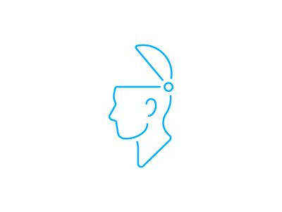 Open Noggin icon profile head open head