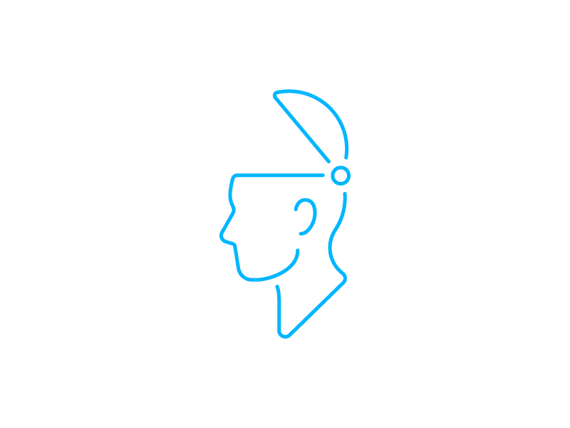 Open Noggin icon profile head open head