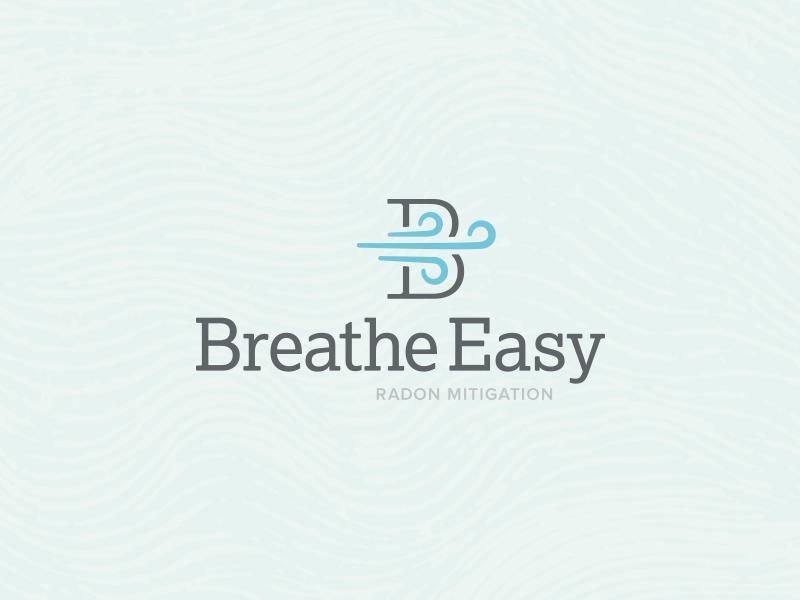 Breathe Easy Mark logo windy breeze b branding