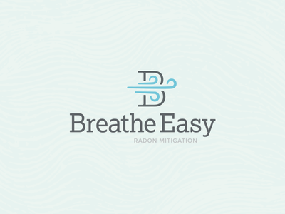 Breathe Easy Mark logo windy breeze b branding