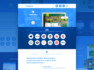 FanMaker.com homepage web site web design sports