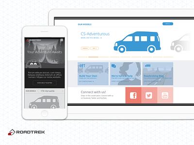 Roadtrek Marketing Site Wireframes wireframes