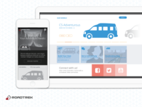 Roadtrek Marketing Site Wireframes