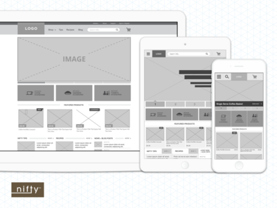 Nifty Home Products Wireframes wireframes