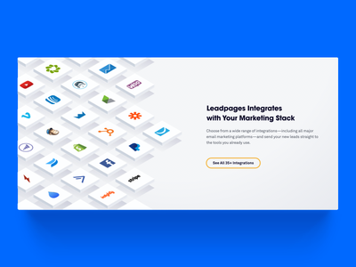 Integrations Illustration illustration isometric leadpages