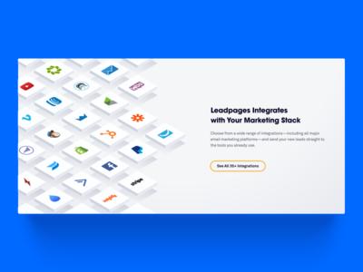 Integrations Illustration illustration isometric leadpages