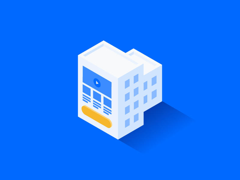 B2B + Landing Page illustration landing page isometric leadpages