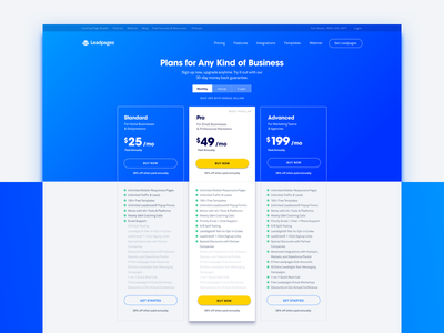 Leadpages Pricing Page pricing page pricing web design leadpages landing page ui ux website