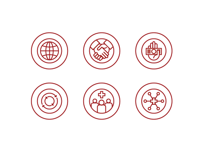 Line Icons WIP globe handshake give reuse recycle community groups groups satellite icon line wip