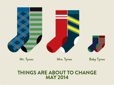 Big News socks dad stripe argyle parents birth announcement