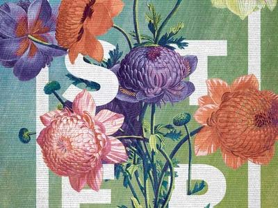Easter WIP flowers watercolor floral easter