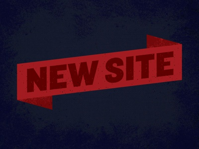 New Site new site banner paul tynes red blue texture