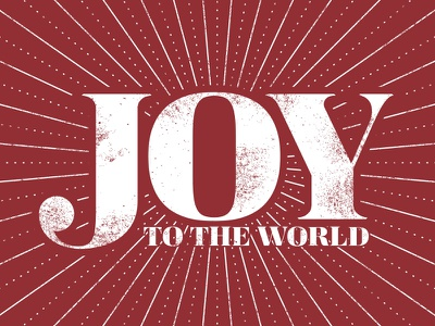 Joy To The World joy type red christmas lines