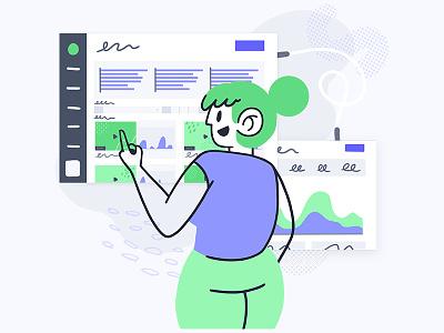 Vidyard for Marketing Demo Illustration character product marketing marketing product illustration illustration