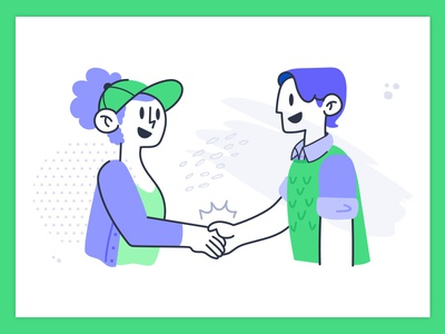 Partner Handshake web illustration web graphic design character design product illustration illustration