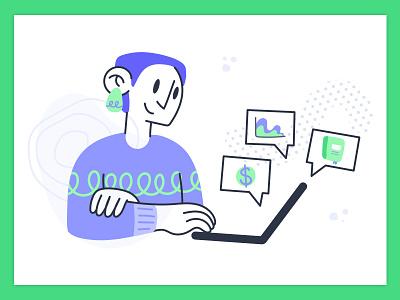 Referral Partner web illustration web graphic design character design product illustration illustration