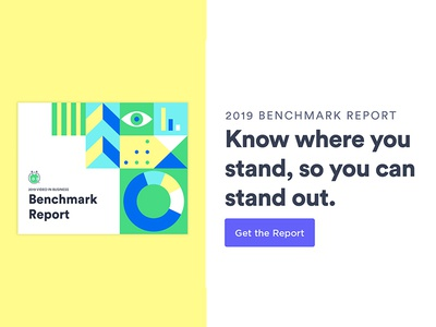 2019 Video in Business Benchmark Report branding vector graphic design design illustration analytics chart report design guide layout analytics report