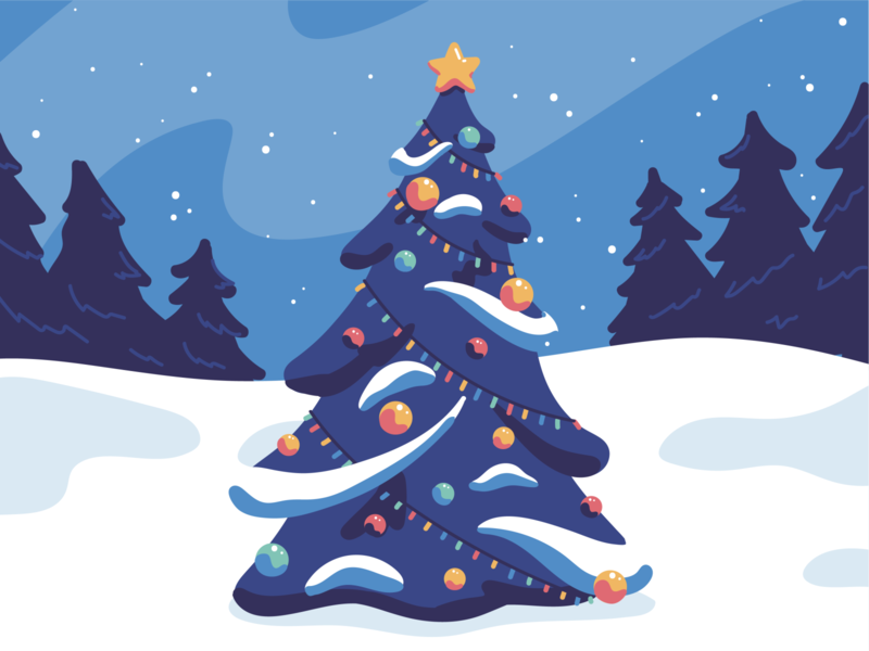 Christmas Tree illustrator illustration snow winter christmas tree christmas