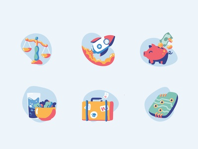 Perks and Benefits Icons for ApplyBoard graphic design icons design careers illustration icons pack icons set iconset perks and benefits icons