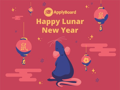 Happy Lunar New Year! 2020 Year of the Rat illustration lunar new year year of the rat chinese new year
