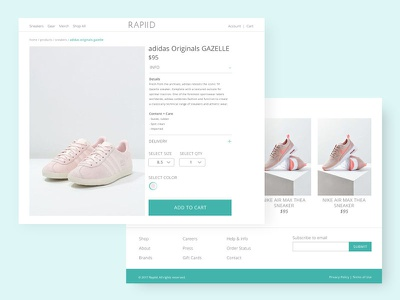 Product Detail Page - Rapiid product detail shop ecommerce