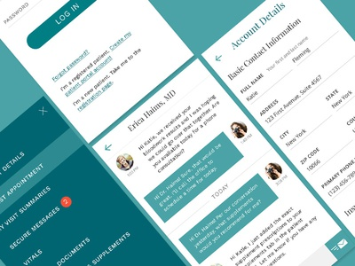 Medical Portal Mobile UI mobile messaging account