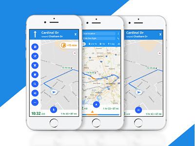 Google Maps Redesign google maps material design google app mobile maps navigation
