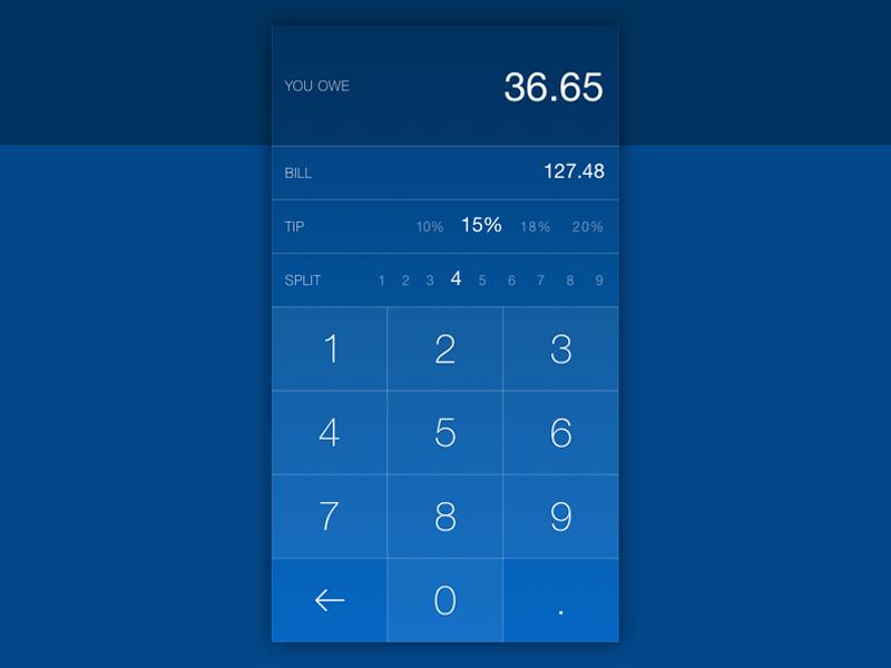 Daily Ui #004 - Calculator tipping tip ux ui daily ui calculator add