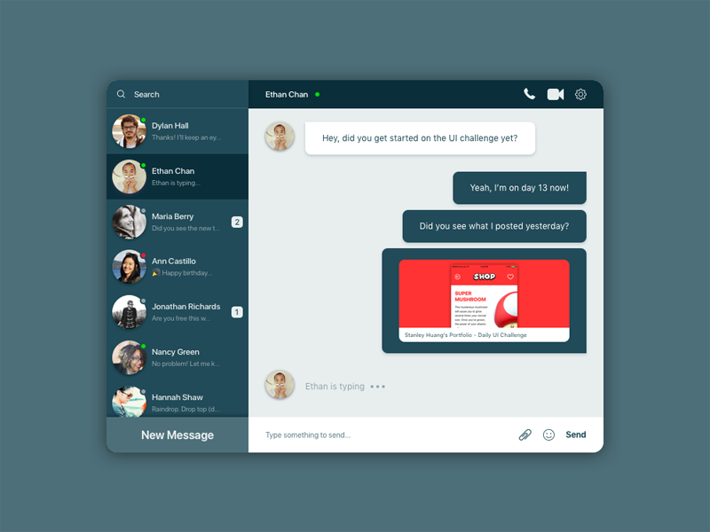 Daily UI #013 - Direct Messaging chat direct messaging message ux ui daily ui
