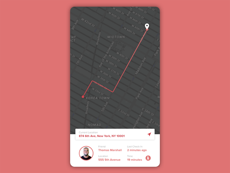 Daily UI #020 - Location Tracker finder gps tracker location ux ui daily ui