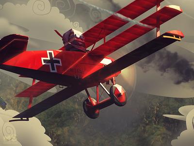 Warplane Legends / Red Baron world war low poly red baron shoot combat fighter war aircraft plane lowpoly legends warplane