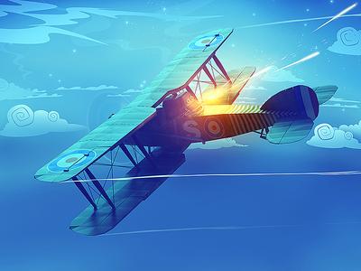 Warplane Legends / bristol low poly lowpoly moon sky night fighter war world wwii bristol airplane plane