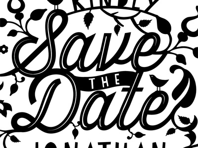 Save the date papercut