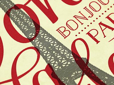 Ooh La La - retrofied retro supply dustin lee retropress effects vintage illustration typography retro