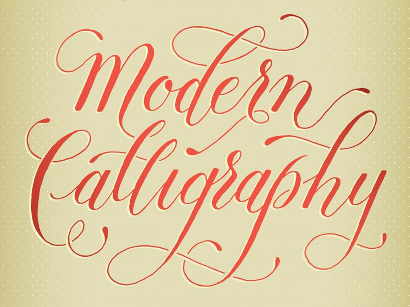 poster title hand lettering fine letter co. modern calligraphy red flourish script lettering handlettered copperplate calligraphy typography poster