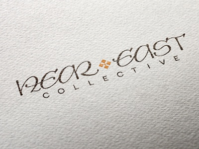 hand calligraphed logo hand lettered logo design pointed pen oriental eastern uncial typography logo calligraphy