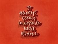 Mandela quote brush-lettering calligraphy digital-type typography handlettered