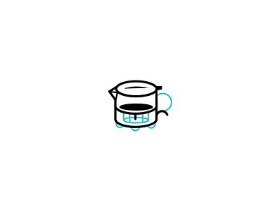 Hand Brew icon handbrew coffee symbol illustration