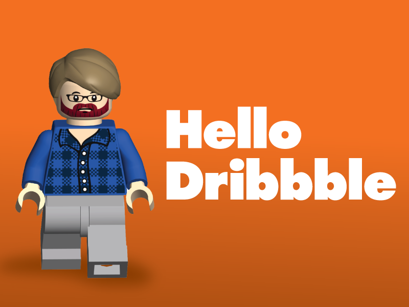 Lego Me — Hello Dribbble by Andrew on Dribbble
