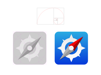 iOS7 Icons - Golden Ratio ios7 icon golden ratio ios iphone apple grid