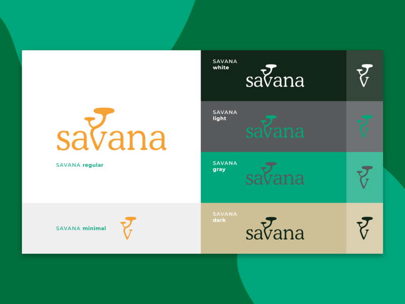 Brand #Savana brand colors tree icon branding vector logo design